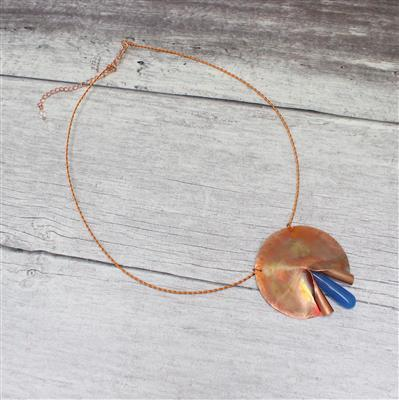 Creative Copper; 135cts Dyed Onyx Drops, 80cts Clear Quartz, Copper Sheet & Wire