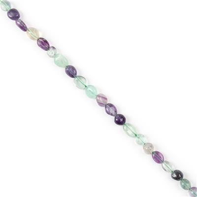 110cts Fluorite Polished Small Nuggets from Approx 5x7 to 10x8mm, 38cm Strand