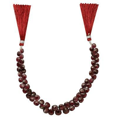 80cts Rhodolite Garnet Graduated Faceted Drops Approx 5 to 7mm, 18cm Strand.
