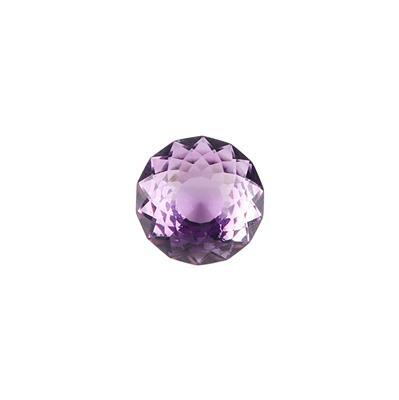 8.50cts Purple Amethyst Special Cut Round 14mm.