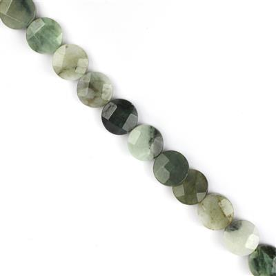 240cts Burmese Multi-Colour Jadeite Faceted Coins Approx 12mm, 38cm strand