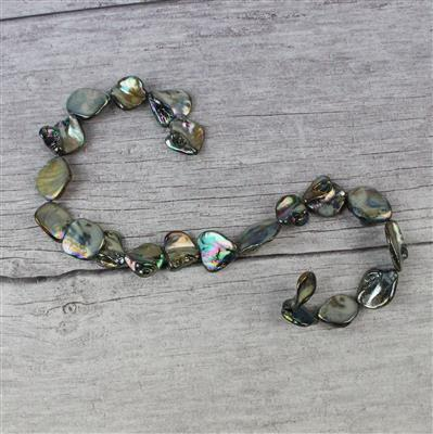 Grey Mother of Pearl Beads Approx 15x15mm to 22x20mm