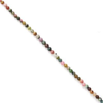 46cts Multi Colour Tourmaline Plain Rounds Approx 5mm, 18cm Strand.