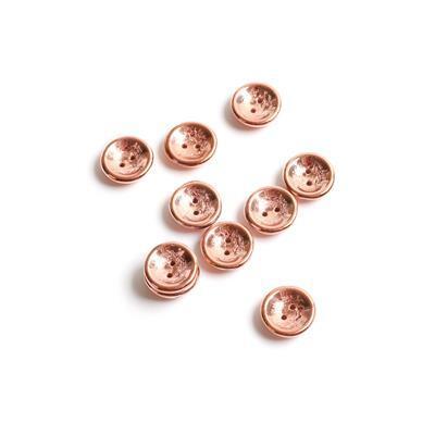Czech Glass Cup Crystal Capri Gold Full Beads, Approx 13x4mm (10pk)