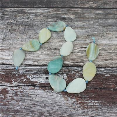 420cts Amazonite Faceted Pears Approx 21x32mm, 38cm s