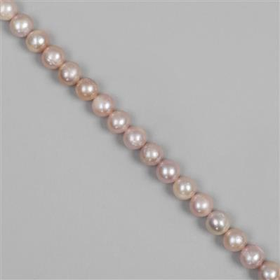 Vintage Rose Freshwater Cultured Potato Pearls Approx 6x7mm,38cm Strand
