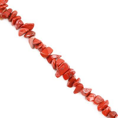 290cts Red Jasper Small Nuggets Approx 3x5 to 6x10mm,82-86cm strand