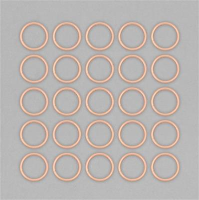 Rose Gold Plated Copper Hollow Open Jump Rings - 30mm & Thickness 3mm (25pcs/pk)