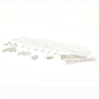 Silver Plated Finding Pack in Organza Bag (Approx 150pcs)