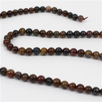 40cts Pietersite Plain Rounds Approx 4mm 38cm strand