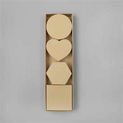 Brown Kraft Paper Display 4 Boxes/set