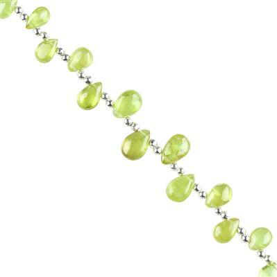 15cts Sphene Graduated Plain Pears Approx 6x5 to 9x6mm, 8cm Strand.