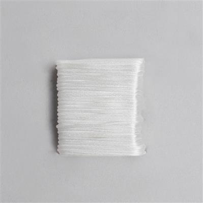 10m White Satin Cord 1mm