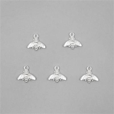 925 Sterling Silver Bumble Bee Charm Approx 9 x 9mm (5 pcs)