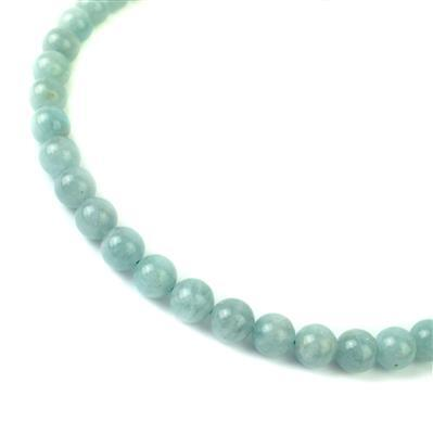 180cts Milky Aquamarine Plain Rounds Approx 8mm 38cm strand