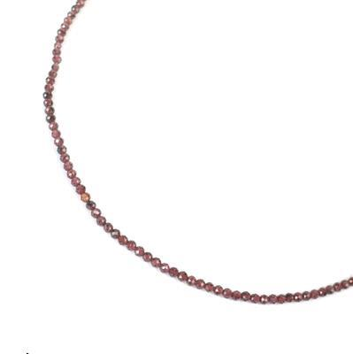 15cts Garnet Faceted Rounds Approx 2mm, 38cm strand