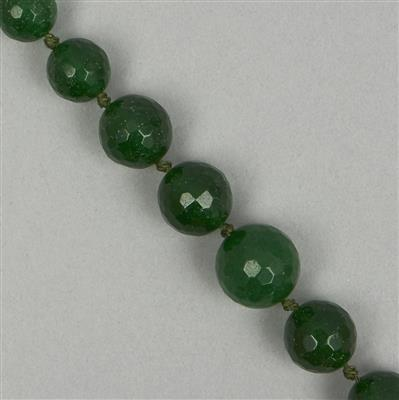 275cts Green Quartz Graduated Faceted Rounds Approx From 5 to 15mm, 42cm Strand.