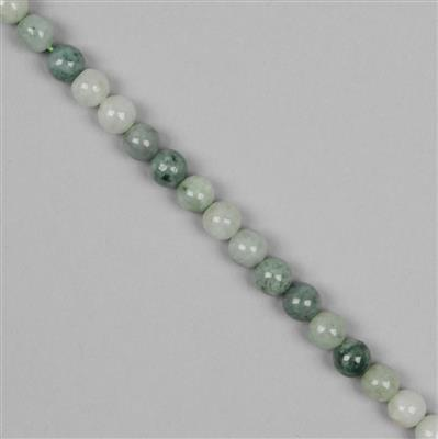 190cts Multi Colour Burmese Jadeite Plain Rounds Approx 8mm 38cm Strand