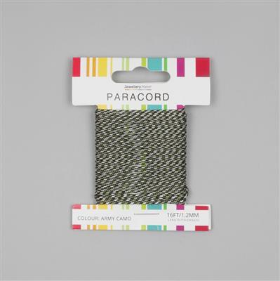 16ft Army Camo Paracord 1.2mm