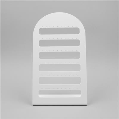 White Acrylic Earring Display Approx 24x13.5cm
