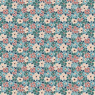 Liberty Primula Posey in Teal Fabric from Winterbourne House Range 0.5m