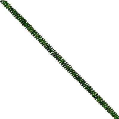 45cts Chrome Diopside Graduated Plain Wheels Approx 2x1 to 5x2mm, 16cm Strand.