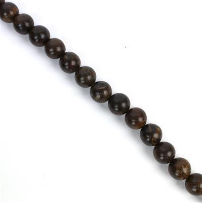 360cts Bronzite Plain Rounds Approx 10mm, Approx 38cm/strand
