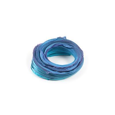 Maelstrom Shibori Silk Ribbon 1/2 Yard