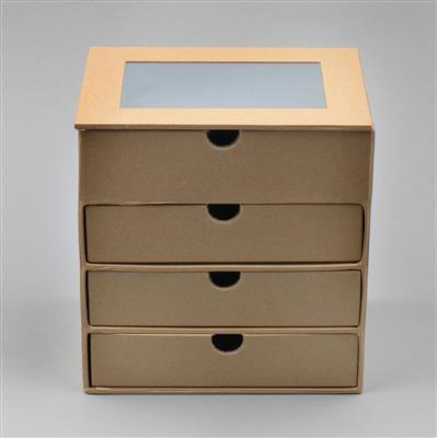 Brown Kraft Paper Display Box with Drawers Approx W15xD12xH15.5cm