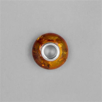 Cognac Baltic Amber Spacer Bead Approx 16x9mm