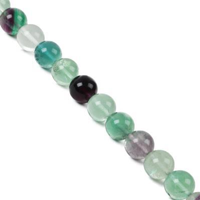 620cts Rainbow Fluorite Plain Rounds Approx 14mm 38cm strand