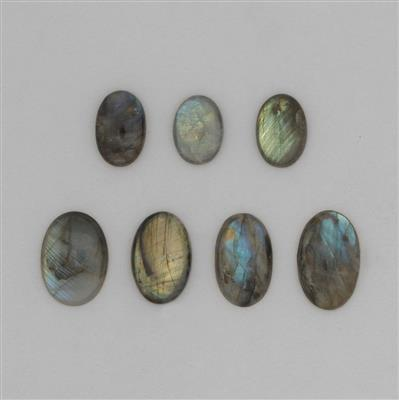 230cts Labradorite Smooth Multi-Shape Cabochons Assortment.