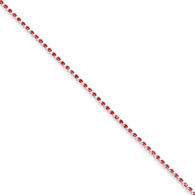 Swarovski Extended Cupchain, 27104, Light Siam, Rhodium Brushed, PP14, 50cm