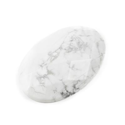 190cts White Howlite Faceted Oval Cabochon Approx 40x60mm