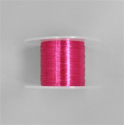 100m Fuchsia Coloured Copper Wire 0.25mm