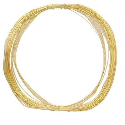 10m Gold Plated Soft Copper Wire 0.40mm