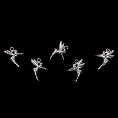 925 Sterling Silver Fairy Charm Approx 13 x 11mm (5 pcs)