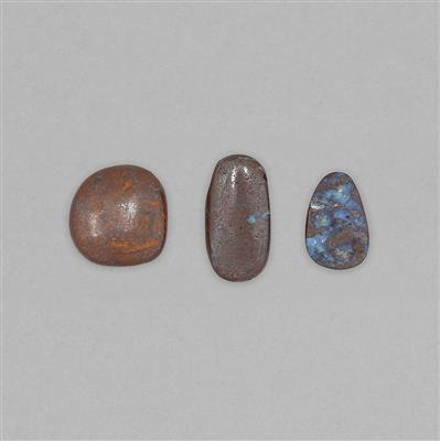 100cts Boulder Opal Multi Shapes Cabochons.
