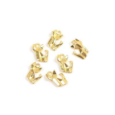 Gold Colour Base Metal Origami Fox Charms Approx 15x12mm(6pcs)