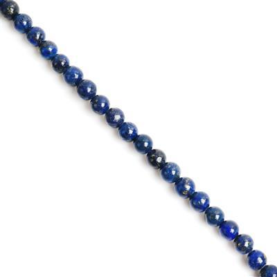 90cts Lapis Lazuli Plain Rounds Approx 6mm, 38cm Strand