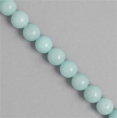 265cts Blue Colour Dyed Quartz Plain Rounds Approx 10mm, 35cm Strand.