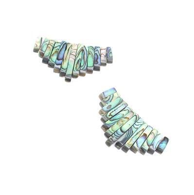 You're Barred! Inc; Abalone Graduated Bars Approx 10x4mm-28x4mm & 11x4mm to 28x4mm