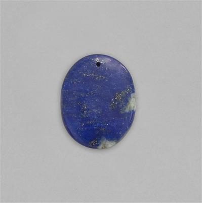 25cts Lapis Lazuli Top Drilled Smooth Oval Cabochon Approx 24x20mm.