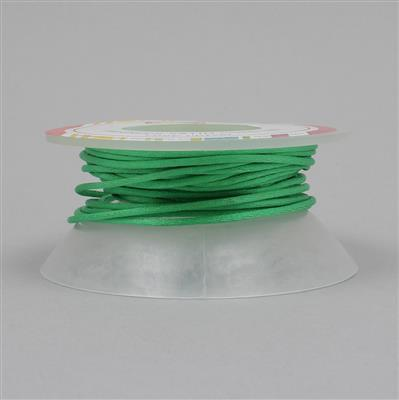 10m Light Green Satin Cord 1mm on Bobbin