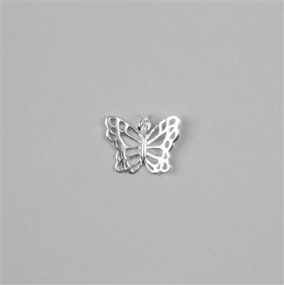 925 Silver Butterfly Pendant Approx 19x17mm