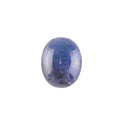 3cts Tanzanite Oval Cabochon 10x8mm.