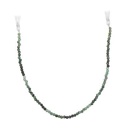 48cts Emerald Graduated Plain Rounds Approx 3 to 5mm, 30cm Strand.