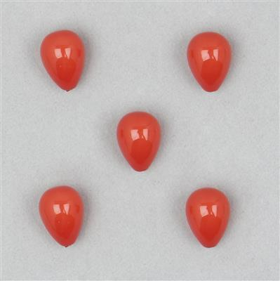 Red Shell Drop Bead Bead, UIPO36