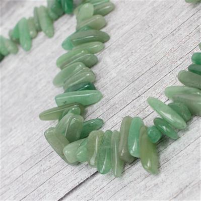 410cts Green Aventurine Long Nuggets Approx 5X8- 7X26mm 38cm