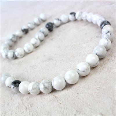 280cts White Howlite Plain Rounds Approx 10mm 38cm